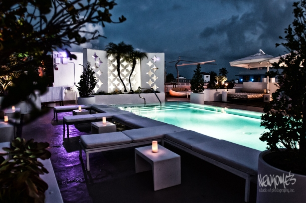 Rooftop Party Location in the Art Deco District of South Beach, Miami.