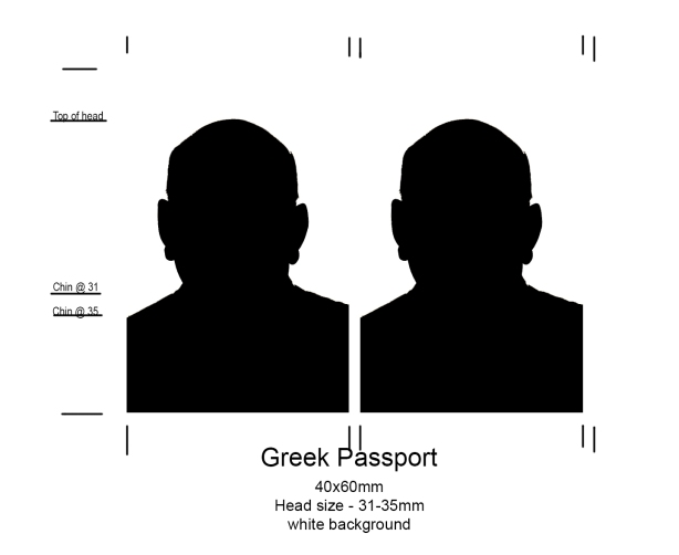 Greek Passport Photo, Tampa
