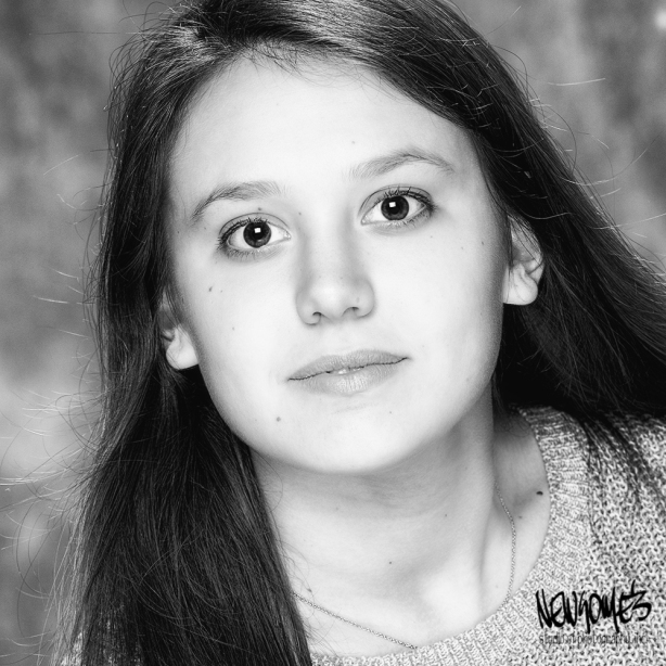 B&W Senior Close Up