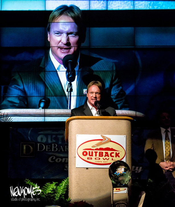Former Tampa Bay Buccaneer Coach, and ESPN Commentator, Jon Gruden.