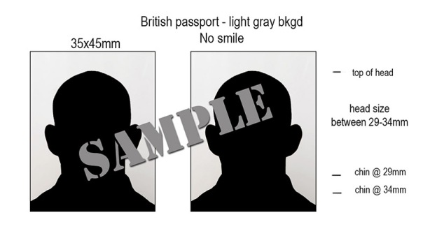 UK British Passport Photo