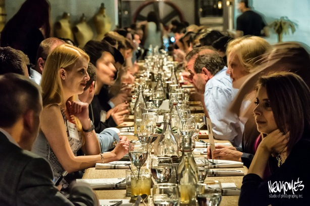120+ guests at one very, very long table.