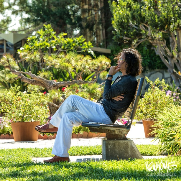 Meditation in the gardens of the Wayfarers Chapel.