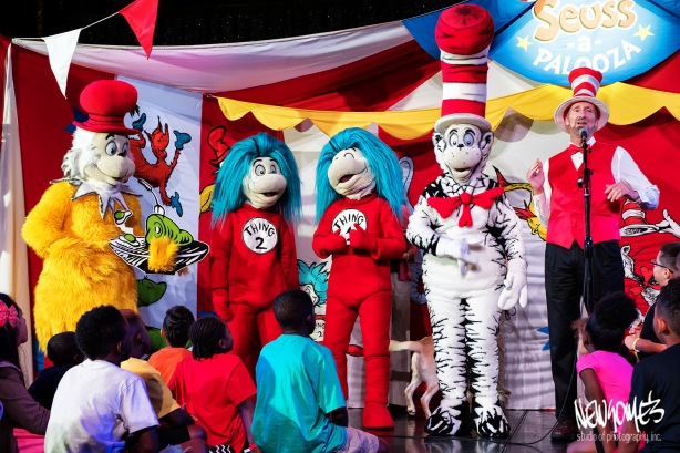 Dr Seuss characters were on hand to entertain the children.