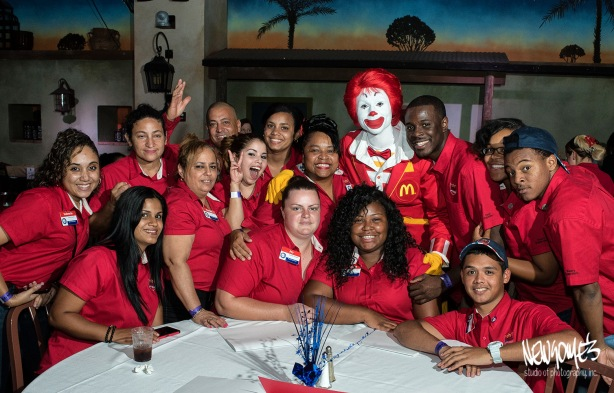 Table shot with Ronald!