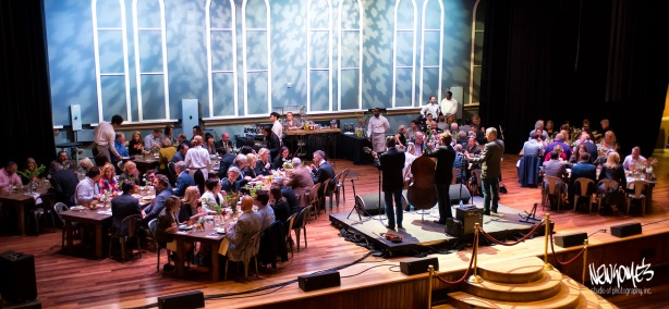 Dinner one evening was held on stage at the Ryman Auditorium.